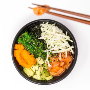 poke bowl crispy chicken